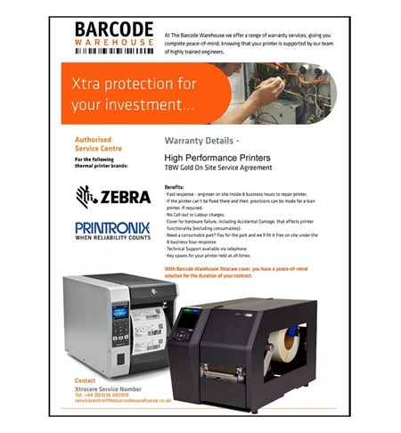 High Performance Printers Xtracare 3 Year Gold Warranty