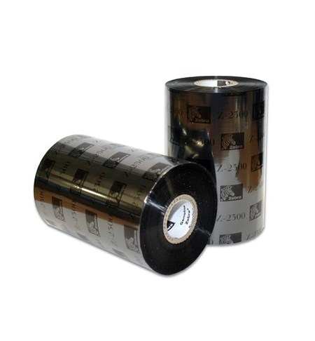 02300BK11030 Zebra 2300 110mm x 300m Wax Ribbon