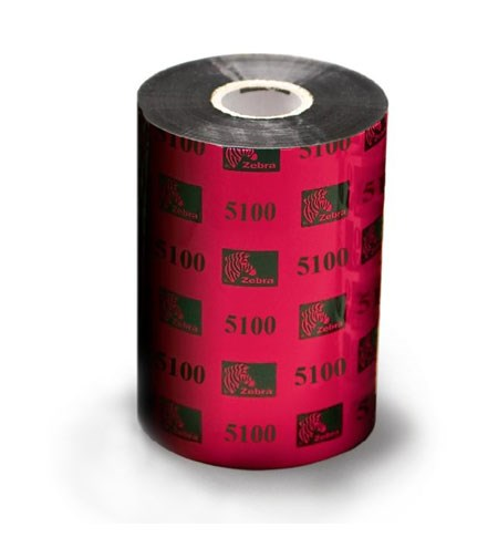 05100BK11045 - Zebra 5100 Premium Resin 110mm x 450m Ribbon